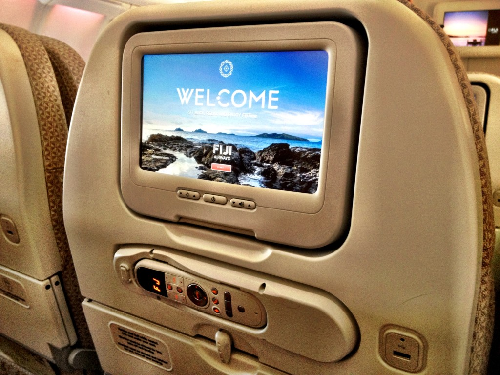 Individual screens in economy class