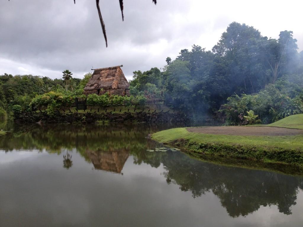 A recreated Fijian village