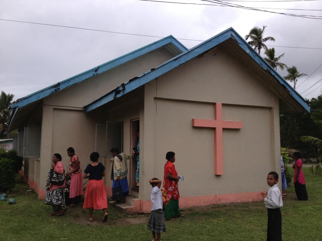 Fijian church in a local village near Sigatoka