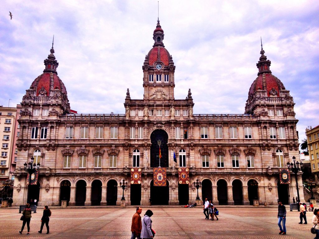 Budapest? Florence? Prague? Nope! La Coruña Town Hall!
