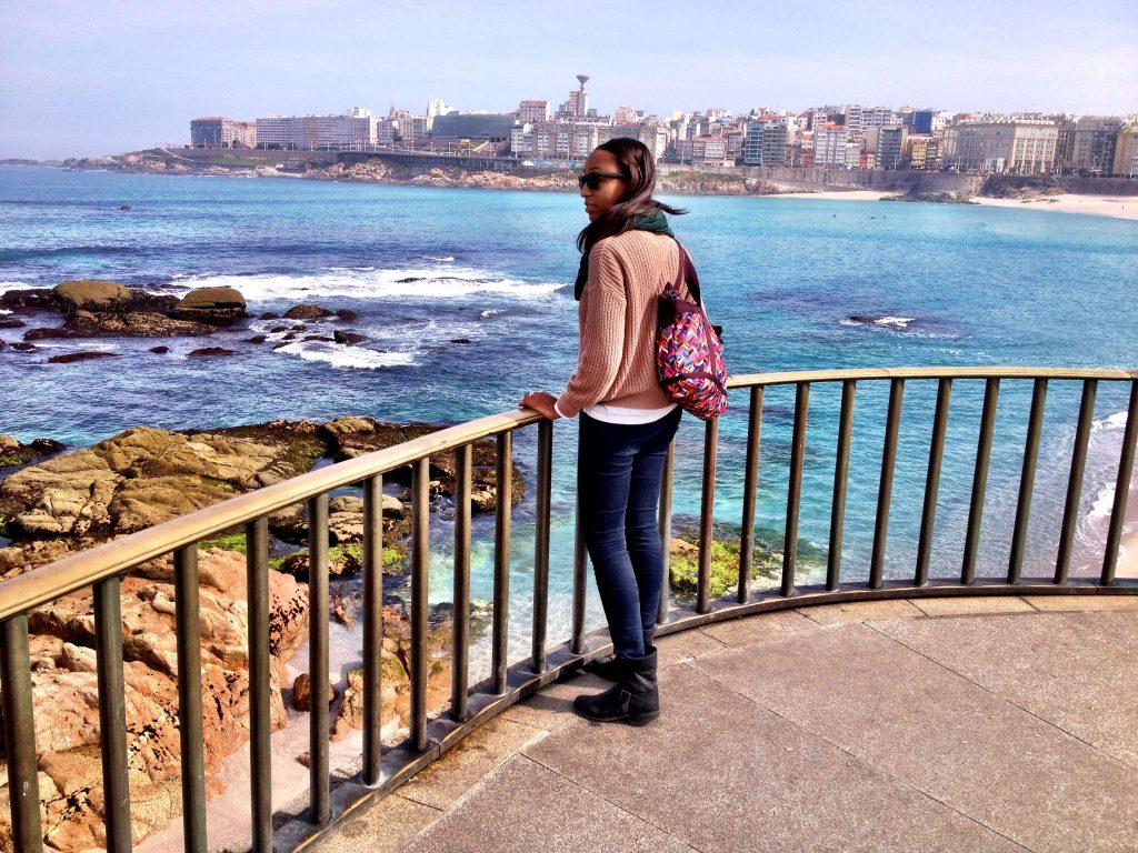 Soaking in the scenic coastline of La Coruña