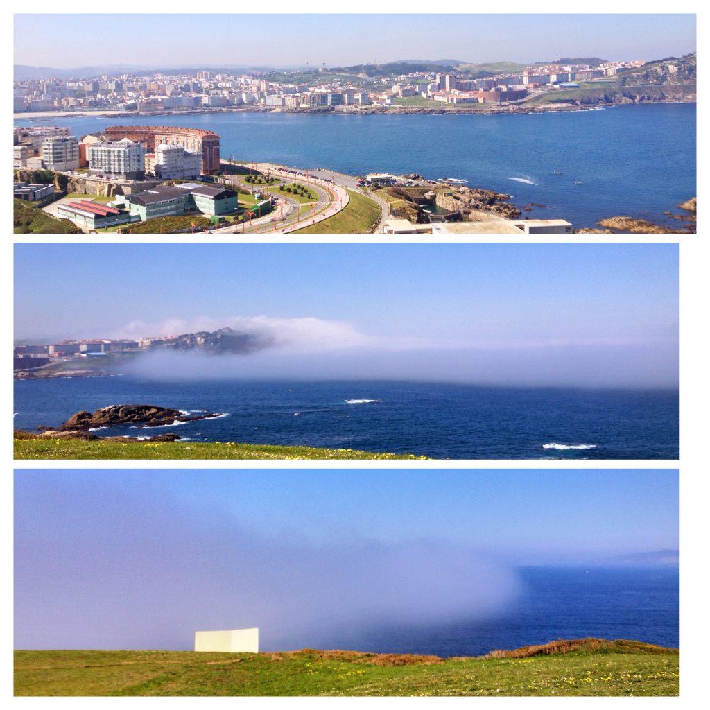 Crazy fog approaching La Coruña!