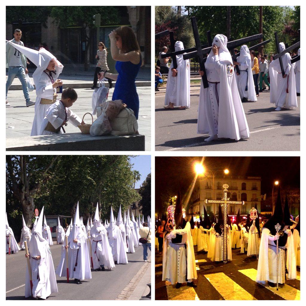 Semana Santa brotherhoods processing in Madrid